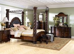 luxury bedrooms designs | Luxury bedroom design ideas with luxurious canopy bed set furniture ...