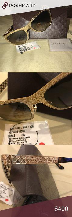Gucci authentic sunglasses gold Brand new authentic Gucci sunglasses with tag Gucci Accessories Sunglasses