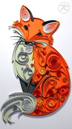 Quilling fox by Patrick Krämer. ❣Julianne McPeters❣ no pin limits