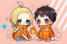 L Anime, Anime Angel, Anime Chibi, Kawaii Anime, Anime Guys, Anime Art, Shinra Kusakabe, Art Icon, Japan Art