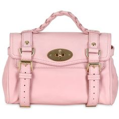 MULBERRY Mini Alexa Small Grained Leather Satchel - Blush ($1,568) ❤ liked on Polyvore featuring bags, handbags, purses, bolsas, bolsos, blush, satchel handbags, mulberry handbags, mini purse and pink satchel purse