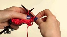 Learn to knit the Holey Stitch. The Holey Stitch is used in a few of Wool and the Gang's kits and knitting patterns. You can find it in our Cosmic Sweater an. Lace Knitting Patterns, Knitting Wool, Knitting Stitches, Embroidery Stitches, Stitch Patterns, Herringbone Stitch Knitting, Tartan, Linen Stitch, Easy Stitch