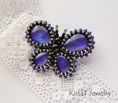 Bead embroidered brooches - Google Search