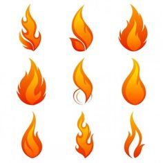flame icon 01 vector                                                       …