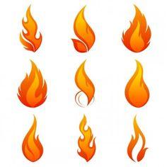 flame icon 01 vector                                                       …