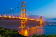 So pretty. blue and golgen gate bridge Places To See, Places Ive Been, Photography Themes, Blue Hour, Golden Gate Bridge, The Great Outdoors, Wordpress Theme, Sunrise, Ocean