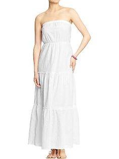 Navy white maxi dresses