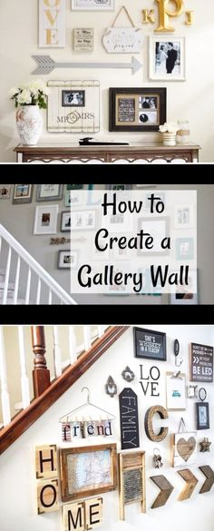 Gallery Wall Ideas • DIY Gallery Wall Layouts and Instructions