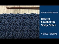 Hello and welcome to Rich Textures Crochet! Today we are going to learn how to crochet the Sedge Stitch, a stitch with a pretty, delicate texture.