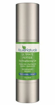 This formula speaks to the deep and grounded evolution that natural skin care formulating has gone through in the last three decades in order to be able to deliver such a brilliant eye therapy product to you today.   http://www.azurenaturals.com/collections/ultimate-facial-serums/products/ultimate-peptide-eye-gel