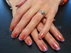 Gelish - Sunrise in the City with Holographic Purple Rockstar Tips
