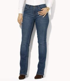 Shop for Lauren Ralph Lauren Plus  Super-Stretch Classic Straight-Leg  Harbor-Wash Jeans at Dillards.com. Visit Dillards.com to find clothing, accessories, shoes, cosmetics & more. The Style of Your Life.