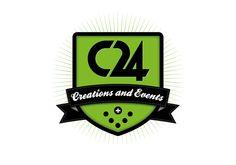Logo design per Creazioni24 (C24).  Creazioni24 è una agenzia di eventi, fondata da Niko Boschi, si occupa a 360° gradi di eventi, concerti, mostre e spettacoli.  Creazioni24 inoltre crea allestimenti, stand, decorazioni su richiesta di complementi d'arredo.