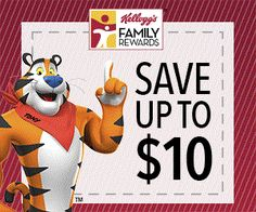 Sign up for the Kellogg's Family Rewards and receive the latest and greatest benefits from Kellogg, like exclusive savings,  great-tasting recipes, and special offers and promotions. Thanks Kellogg's!  Purchase all of the KFR-participating products that you love.  Easily collect points on those purchases using their three ways. Then redeem your points for awesome rewards.  Their rewards catalog is filled with items you'll love – from gift cards to coupons to sweepstakes – and so much…