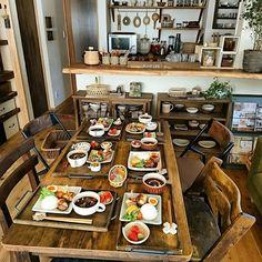 部屋全体/うちカフェ/シチュー/おうちごはん/暮らしを楽しむ/和食…などのインテリア実例 - 2017-01-28 22:59:07 | RoomClip(ルームクリップ) Food Presentation, Kitchen Dining, Table Settings, Asian, Plates, Cooking, Breakfast, Room, Food Ideas