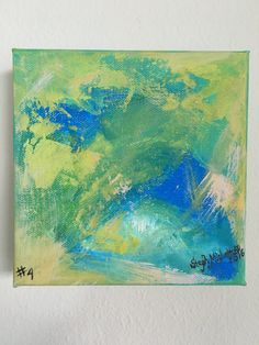Abstract 6x6 Painting, Original Art, Abstract Expressionism, Wall Art, Office  Art, Mini Canvas, Colorful Art, Intuitive Painting, Florida