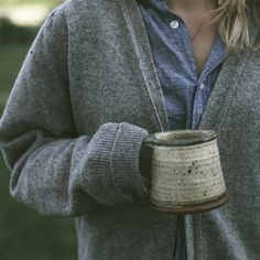 stay cozy with a dark button up under a dark cardigan...and a mug of good coffee or tea! xoxo