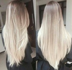I love this color!! Platinum blonde hair, white blonde hair