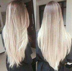 Platinum blonde hair, white blonde hair