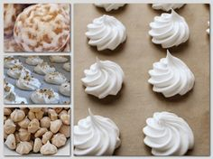 Sweet Cookies, Baking And Pastry, Meringue, Icing, Clean Eating, Deserts, Tasty, Place Card Holders, Cooking
