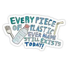 Plastic Awareness Sticker