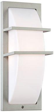 Dualo Modern Silver Aluminum Possini Euro Outdoor Wall Light - #EU2C107 - Euro Style Lighting