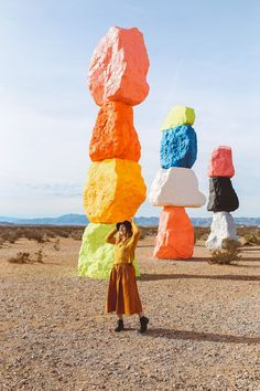 Seven Magic Mountains in Las Vegas. A must for all artsy travelers