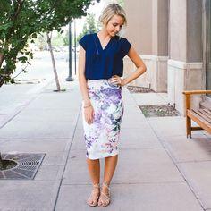 Lovely Garden Pencil Skirt