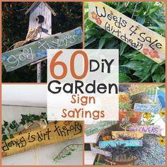 DIY Garden Signs and Garden Sign Sayings -