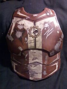 Mandalorian costume parts - upper chest made from PVC pipe, heated and moulded. Abdomen made from Sintra.