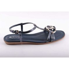 Blue 36.5 EUR - 6.5 US (244mm) Tod\s ladies flat sandal XXW0II07530RM0U604