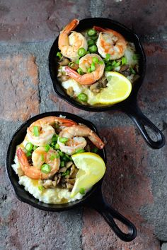 "Shrimp and Grits in Mini Cast Iron Skillets Whether it's the charming presentation in mini cast iron skillets, or the fact that the time to prepare this ""fisherman's breakfast"" originally from the Carolina Low Country is less than 15 minutes -... Read more"