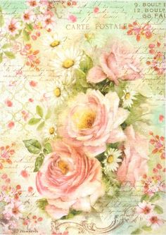 Rice Paper for Decoupage Decopatch Scrapbook Craft Sheet Music Sheet & Roses in Crafts, Multi-Purpose Craft Supplies, Crafting Paper Papel Vintage, Decoupage Vintage, Vintage Diy, Vintage Ephemera, Vintage Paper, Paper Art, Paper Crafts, Music Paper, Vintage Rosen