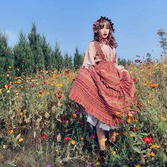 ZJ Story -Little Blanca- Vintage Classic Lolita Skirt Salopette,Lolita Dresses, Set Fashion, Lolita Fashion, Vintage Fashion, Fashion Outfits, Fashion Design, Fashion Skirts, Fashion Women, Mori Girl, Mode Lolita