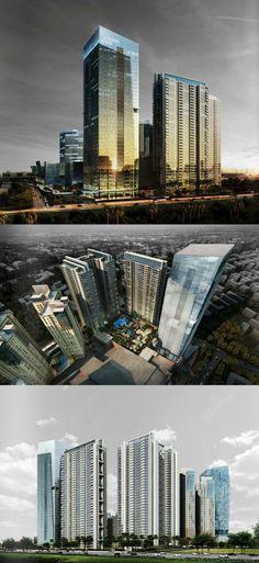 Kota Kasablanka phase 2 development in South Jakarta Amazing Architecture, Modern Architecture, Building Structure, Phase 2, Future City, Beautiful Buildings, Jakarta, Contemporary Design, Facade