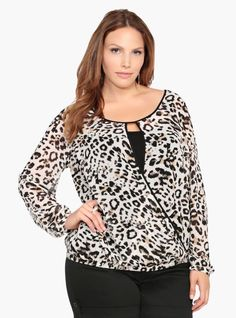 TORRID Animal Leopard Print Chiffon Flowy Loose Blouse Front Sz 2 2x    eBay