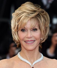 Jane Fonda classy hairstyle!