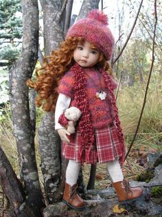 """~TOASTY IN PLEATS!~ by Tuula fits 13"""" Effner Little Darling to a """"t""""!"""