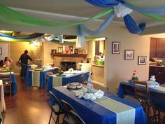 "I like the blue and green. Simple.  @Devon Daigle    Photo 1 of 26: Nautical / Baby Shower/Sip & See ""Ahoy! It's a Boy"""