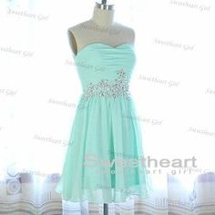 Sweetheart Girl | Light Blue A line Chiffon Sequined Short Prom Dress, Homecoming | Online Store Powered by Storenvy