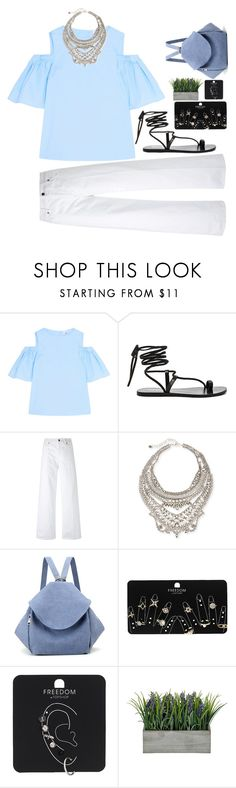 """good"" by remooooo ❤ liked on Polyvore featuring Iris & Ink, Matisse, Vince, DYLANLEX and Topshop"