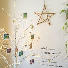 mizusawaさんの、リビング,観葉植物,照明,100均,一人暮らし,カフェ風,salut!,キャンドゥ,ウエルカムツリー,のお部屋写真
