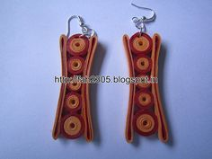 Handmade Jewelry - Paper Quilling Earrings (Concave) (1)