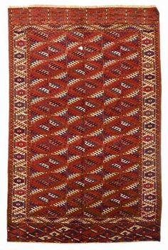 VAN-HAM Kunstauktionen Yomut. End 19th C. 322 x 210cm.