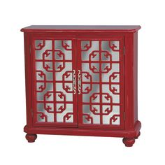 Features:  -Transitional style.  -1 Adjustable shelf tier.  -Color: Red…