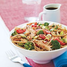 Plan meal time with this simple cold sesame noodle recipe made with leftover chicken. Leftover Chicken Recipes, Chicken Noodle Recipes, Leftovers Recipes, Chicken Leftovers, Turkey Recipes, Asian Recipes, Healthy Recipes, Ethnic Recipes, Hawaiian Recipes