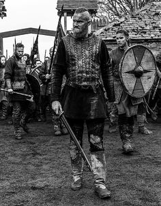 Vikings, Season 4 Bjorn, with his half brothers Ubbe & on the background Hvitserk All Ragnar's son's