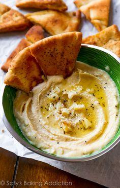 Seriously Smooth Roasted Garlic Parmesan Hummus.