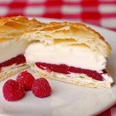 """Rock Recipes -The Best Food & Photos from my St. John's, Newfoundland Kitchen.: Raspberry Vanilla Ice Cream Puff Pastries"" #spring #recipe #springrecipes #raspberry #icecream"