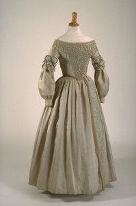 WEDDING DRESS 1840 Silk, cotton Gift of Mrs. Helen of Anjou and Mr. Robin Ross Restored in 2005 by the Quebec Conservation Centre 1984.44 AD © Richard-Max Tremblay
